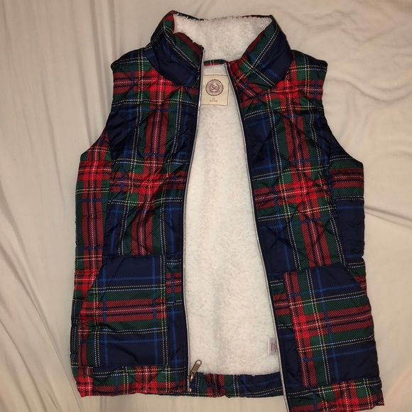 Authentic American Heritage Jackets & Blazers - Vest lined with fuzzy faux fur